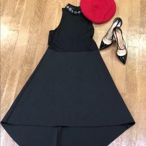 Gracia Black Jeweled Neck Dress